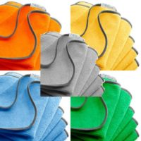 Dust free antimicrobial cleaning towels used by house cleaners